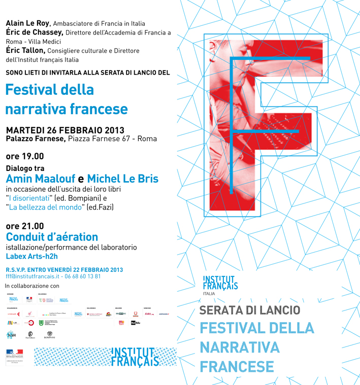 flyer festival della fiction narrativa annonce Conduit d'Aération Labex Arts-H2H Lucile Haute Alexandra Saemmer